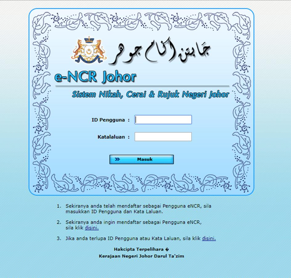 Tips Perkahwinan Prosedur Perkahwinan Johor Mfdjannah